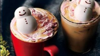 コーヒー「タリーズ スノーマンラテ」